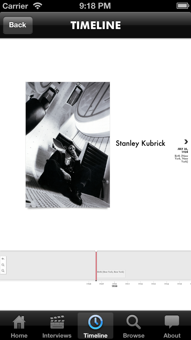 Stanley Kubrick for iOS